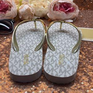 Michael Kors Shoes - Michael Kors Logo Flip Flop Sandals 7M